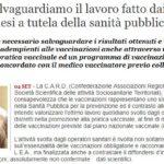 Vaccini, Distretti E Sanità Pubblica: Intervento Del Presidente Volpe (QS)