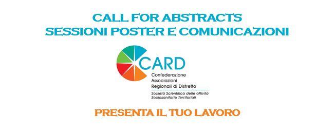 """CARD Nazionale Pisa, Sessioni """"Poster"""" E """"Comunicazioni"""": Modalità E Tempi Di Invio"""