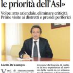 G. Volpe (Presidente CARD): Nomina A Nuovo Direttore Generale ASL Benevento