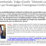 """[QS] Intervista Dott. Volpe (CARD): """"Distretti Carta Vincente Per Fronteggiare L'emergenza Covid 19"""""""