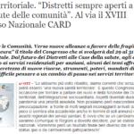 """[QS] """"Distretti Sempre Aperti A Tutela Della Salute Delle Comunità"""". Al Via Il XVIII Congresso Nazionale CARD"""