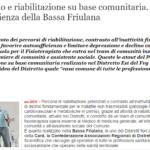 [QS] Distretto E Riabilitazione Su Base Comunitaria: L'esperienza Della Bassa Friulana