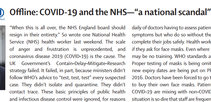 "Offline: COVID-19 And The NHS—""a National Scandal"