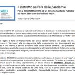 Il Distretto Nell'era Delle Pandemie: La RI/COSTITUZIONE Di Un SS Pubblico Centrato Sul Team Delle Cure Domiciliari – USCA